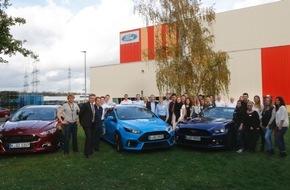 Ford-Werke GmbH: Besonders engagiert und motiviert: Ford lässt sich auf Essen Motor Show von jungen Auszubildenden vertreten
