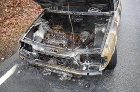 Polizei Düren: POL-DN: Pkw brannte aus