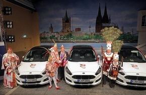 Ford-Werke GmbH: Mit Bi-Turbo und 210 PS durch den Karneval: Neuer S-MAX feiert bei Ford-Wagenübergabe seine Karnevals-Premiere