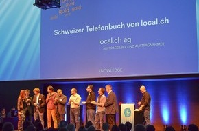 local.ch: local.ch décroche la médaille d'or au Best of Swiss Apps Award