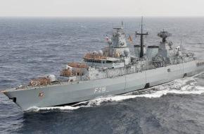 """Presse- und Informationszentrum Marine: Fregatte """"Schleswig-Holstein"""" kehrt nach Wilhelmshaven zurück"""