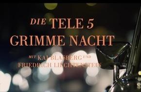 Mittwoch, 08. März 2017, ab 00:20 Uhr: Die TELE 5 Grimme-Preis-Nacht, präsentiert von Friedrich Liechtenstein / TELE 5 zeigt seine Grimme-Preis-nominierten Formate seit 2012