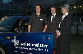 Debrunner Acifer AG: Simon Johner de Chiètres remporte le Debrunner Acifer Trophy / SwissSkills soutient le Debrunner Acifer Trophy