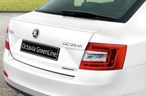Skoda Auto Deutschland GmbH: Nur 85 Gramm CO2 pro Kilometer: Neuer SKODA Octavia GreenLine ab sofort bestellbar
