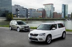 Skoda Auto Deutschland GmbH: SKODA Yeti mit neuer EU-6-Motorenpalette und moderner Konnektivität