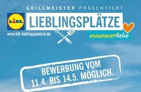 LIDL: Lidl Lieblingsplätze 2016: Lidl verschönert öffentliche Grillplätze / Ab 11. April 2016 können Grillfans deutschlandweit Grillplätze auf Vordermann bringen. Das Preisgeld beträgt 100.000 Euro.