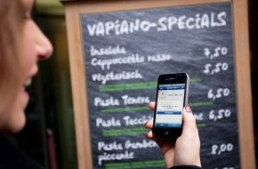 Vapiano SE: Vapiano belohnt Freunde beim Check-In / Vapiano gibt Teilnahme an Facebook®-Angebote bekannt (mit Bild)