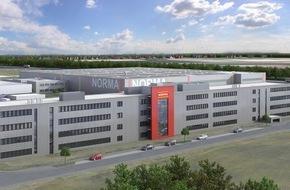 NORMA: Neue NORMA-Zentrale: modern und zukunftsorientiert / Richtfest des neuen Verwaltungskomplexes in Fürth