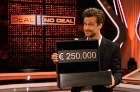 """SAT.1: Verführer! Wayne Carpendale moderiert zum ersten Mal """"Deal or no Deal"""" in SAT.1 - ab Mittwoch, 30. Juli 2014, 20:15 Uhr"""