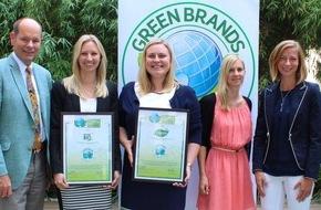 Green Brands: ROSSMANN erhält erneute GREEN BRANDS Germany Auszeichnung für die Eigenmarken Alterra und enerBIO