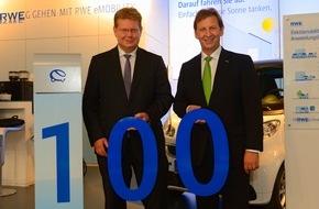 RWE International SE - Effizienz: Elektroautos: RWE begrüßt die EWR AG als 100. Energiedienstleister im Ladenetzwerk