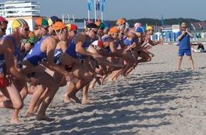 DLRG - Deutsche Lebens-Rettungs-Gesellschaft: 20. Internationaler DLRG Cup / Rettungsschwimmer aus sieben Nationen wettstreiten am Strand von Warnemünde