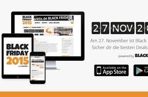 Black-Friday.de: Black-Friday.de präsentiert: Die Black Friday 2015 App - Jetzt kostenlos im App Store und bei Google Play