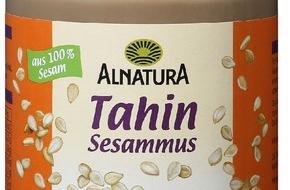 Migros-Genossenschafts-Bund: Migros ruft Alnatura Tahin Sesammus mit Mindesthaltbarkeitsdatum 09.05.2016 wegen Salmonellen-Verdacht zurück