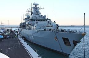 """Presse- und Informationszentrum Marine: Fregatte """"Schleswig-Holstein"""" kehrt von Operation """"Sophia"""" zurück"""