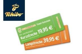 Tchibo GmbH: Mit Tchibo kreuz und quer durch Deutschland: Fernbus-Tickets zum Sonderpreis