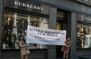 VIER PFOTEN - Stiftung für Tierschutz: Burberry bricht eigene ethische Standards / Offener Brief von VIER PFOTEN an britische Luxus-Modemarke (ANHANG/BILD)