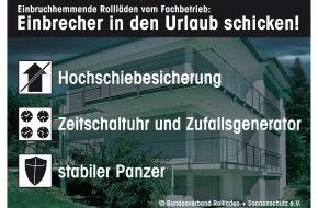 Bundesverband Rollladen + Sonnenschutz e.V.: Tag des Einbruchschutzes: Staat bezuschusst Nachrüstung mit Rollläden