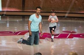 SAT.1: Michael Jordan beim Basketball abgezockt: Der fünfjährige Titus mischt am Freitag die SAT.1-Prime-Time bei den #Superkids auf