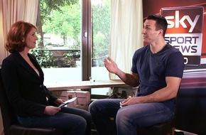 """Sky Deutschland: Wladimir Klitschko exklusiv bei Monica Lierhaus: """"Wenn Wilder seinen Titel verteidigt, Vereinigungskampf definitiv im nächsten Jahr."""" / Am Donnerstag ab 7.00 Uhr auf Sky Sport News HD"""