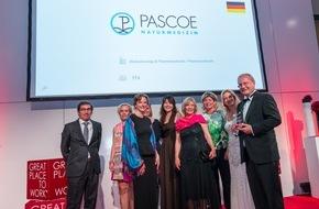 Pascoe Naturmedizin: PASCOE einer der besten Arbeitgeber Europas 2015