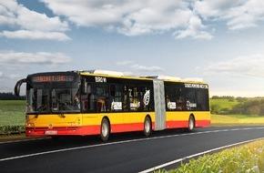 GAZPROM Germania GmbH: GAZPROM Germania und Solbus bringen Erdgasbusse in Warschau auf die Strasse