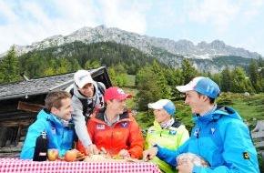 Tirol Werbung: ÖSV-Adler tanken Kraft am Adlerweg