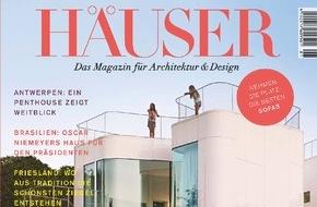 Gruner+Jahr, HÄUSER: Die Besten der Besten in Europa: Deutschlands Premium-Architektur-Magazin HÄUSER sucht für den HÄUSER-AWARD 2016 die individuellsten Einfamilienhäuser