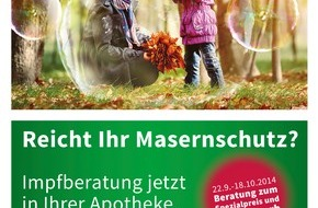 pharmaSuisse - Schweizerischer Apotheker Verband / Société suisse des Pharmaciens: Impfberatungsaktion in der Apotheke: 22. September bis 18. Oktober