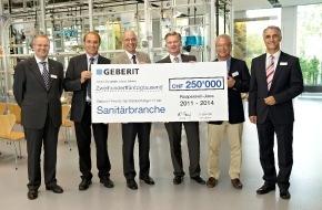 Geberit Vertriebs AG: Jubilé des 10 ans du Centre d'information Geberit GIZ à Jona /  Lancement du «Prix Geberit réservé aux performances exceptionnelles dans la branche du sanitaire»