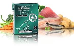 """PLATINUM Gmbh & CO KG: """"Pure Fish"""": Die hochwertige Hundenahrungs-Produktfamilie PLATINUM MENU ist um eine neue Fisch-Variante erweitert worden"""