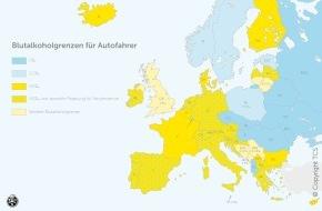 Touring Club Schweiz/Suisse/Svizzero - TCS: Vorsicht bei Alkohol am Steuer: Andere Promillegrenzen im Ausland