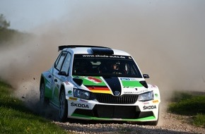 Skoda Auto Deutschland GmbH: Rallye Sachsen: SKODA Piloten Fabian Kreim/Frank Christian wollen den zweiten Saisonsieg