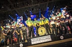STIHL TIMBERSPORTS Series: Spektakuläres Ergebnis der STIHL TIMBERSPORTS® Weltmeisterschaft 2015 / Neue Weltrekorde mit Axt und Säge