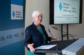 Hanns-Seidel-Stiftung: Mehr Dialog mit christlich-sozialem Akzent / Hanns-Seidel-Stiftung vergrößert Repräsentanz in Berlin