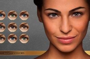 Alcon Air Optix Colors Farbkontaktlinsen: Mit Air Optix® Colors das blaue Wunder erleben / Blaue Augen sind begehrt: Laut Befragung 1) von TNS Emnid und AIR OPTIX® COLORS Farbkontaktlinsen wünschen sich besonders die Bayern Himmelsaugen