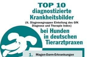 Bundesverband für Tiergesundheit e.V.: Was fehlt meinem Hund? / Die zehn am häufigsten diagnostizierten Krankheiten beim Hund.*