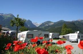 Alpenregion Bludenz Tourismus GmbH: Camping in Vorarlberg 2012 mit neuen Angeboten