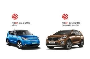 """KIA Motors Deutschland GmbH: Doppel-Erfolg für Kia beim """"Red Dot Award 2015"""""""