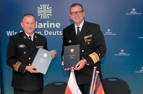 Presse- und Informationszentrum Marine: Polnische und deutsche Marinen beschließen historisch einmalige Uboot-Kooperationsvereinbarung