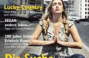 """3sat: Woran glaubst Du? / Mehr zur Suche nach dem Glück im neuen """"3sat TV- & Kulturmagazin"""" / Das vierteljährlich erscheinende Heft ist ab 19. Dezember im Handel erhältlich"""