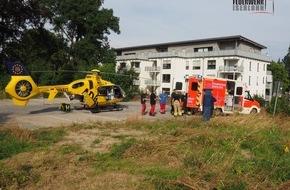 Feuerwehr Iserlohn: FW-MK: Rettungshubschrauberlandung