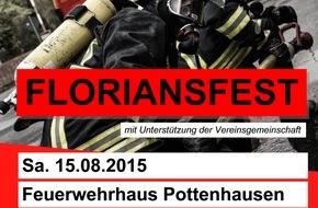 Freiwillige Feuerwehr Lage: FW Lage: 75 Jahre Löschgruppe Pottenhausen - Einladung zum Floriansfest!