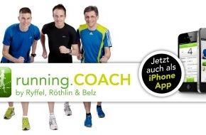 running.COACH: Ryffel, Röthlin und Belz lancieren die running.COACH-App