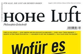 """Hohe Luft Magazin: Martin Suter: """"Auch ich habe getäuscht"""""""