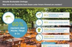 Bookatable GmbH & Co.KG: Sommerzeit, Biergartenzeit, Nörglerzeit