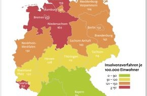 BÜRGEL Wirtschaftsinformationen GmbH & Co. KG: 4 Prozent weniger Privatinsolvenzen / Steigende Fallzahlen in der jüngsten und ältesten Altersgruppe