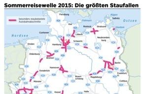 ADAC: Stauprognose für das Wochenende 26. bis 28. Juni / Ferienbeginn in Nordrhein-Westfalen läutet Sommerreisewelle ein