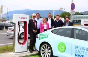 RWE Deutschland AG: Erfolgreiche Generalprobe für Go & See Tour 2015 / RWE-Tesla fährt von Essen ins österreichische Villach / Ziel ist Einweihung einer Supercharger-Station von Tesla Europe und Energieversorger Kelag