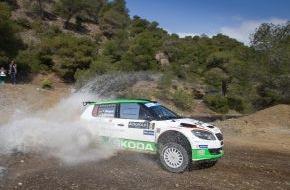 Skoda Auto Deutschland GmbH: SKODA Pilot Lappi Vierter bei der Akropolis-Rallye, Wiegand am Sonntag Fünfter